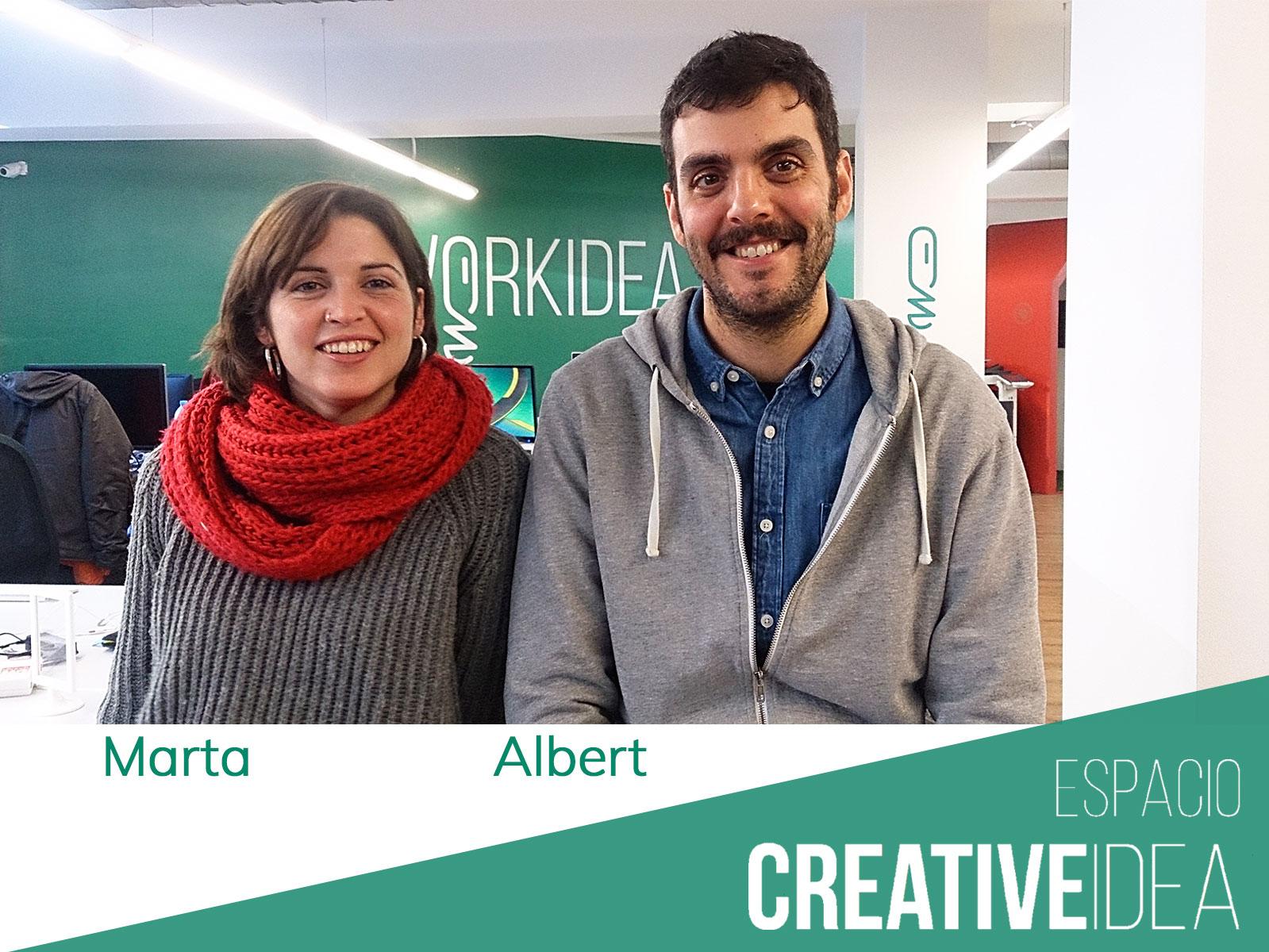 Nuestros coworkers Marta y Albert