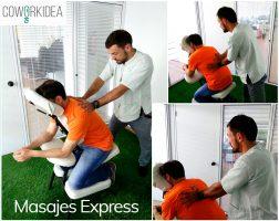 Un masaje express en el coworking, ¡por favor!